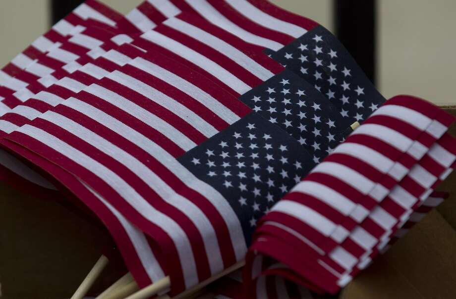File photo of American flags. Photo: Jason Fochtman, Houston Chronicle