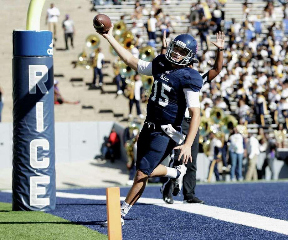 Rice quarterback J.T. Granato is looking to build on his performance against Florida Atlantic last week. Photo: Tim Warner, Freelance / Houston Chronicle