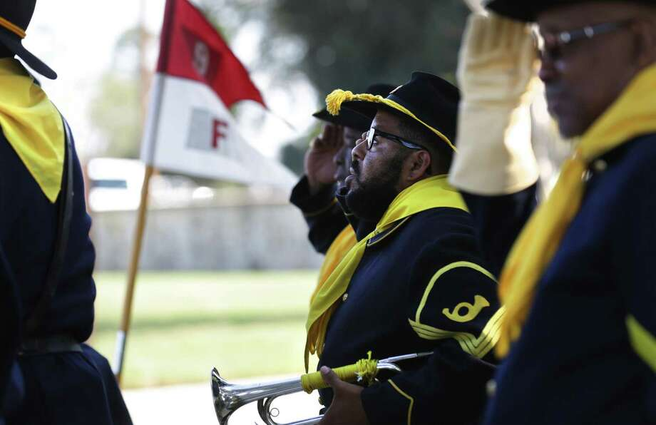 Members of the Bexar County Buffalo Soldiers will participate in Buffalo Soldier Day at the UTSA Institute of Texan Cultures on Sunday. Photo: Bob Owen /San Antonio Express-News / ©2016 San Antonio Express-News