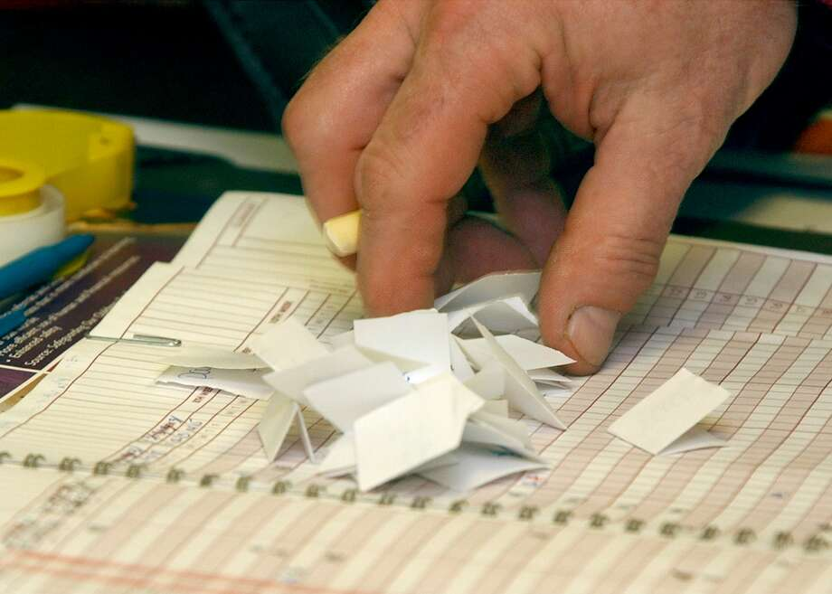 Students in civics classes can use paper ballots for lessons on elections. (File Photo) Photo: File Photo / The News-Times File Photo