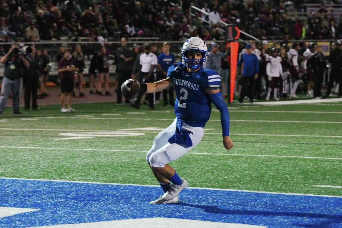 Friendswood's Tyler Page (2) strolls into the end zone against George Ranch in the first half Friday, Nov. 11 at Friendswood High School.
