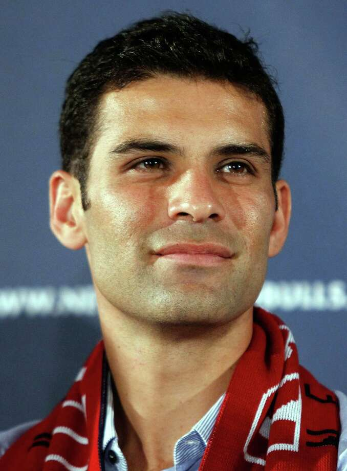 HARRISON, NJ - AUGUST 03:  Rafa Marquez speaks to the media during a press conference to introduce him to the New York Red Bulls on August 3, 2010 at Red Bull Arena in Harrison, New Jersey.  (Photo by Mike Stobe/Getty Images for New York Red Bulls) Photo: Mike Stobe / 2010 Getty Images