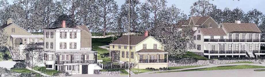 An artist's rendering of the Greenwich Historical Society's future campus. The Greenwich Historical Society is located at 39 Strickland Road in the Cos Cob section of Greenwich. Photo: Contributed Photo / Contributed Photo / Greenwich Time Contributed