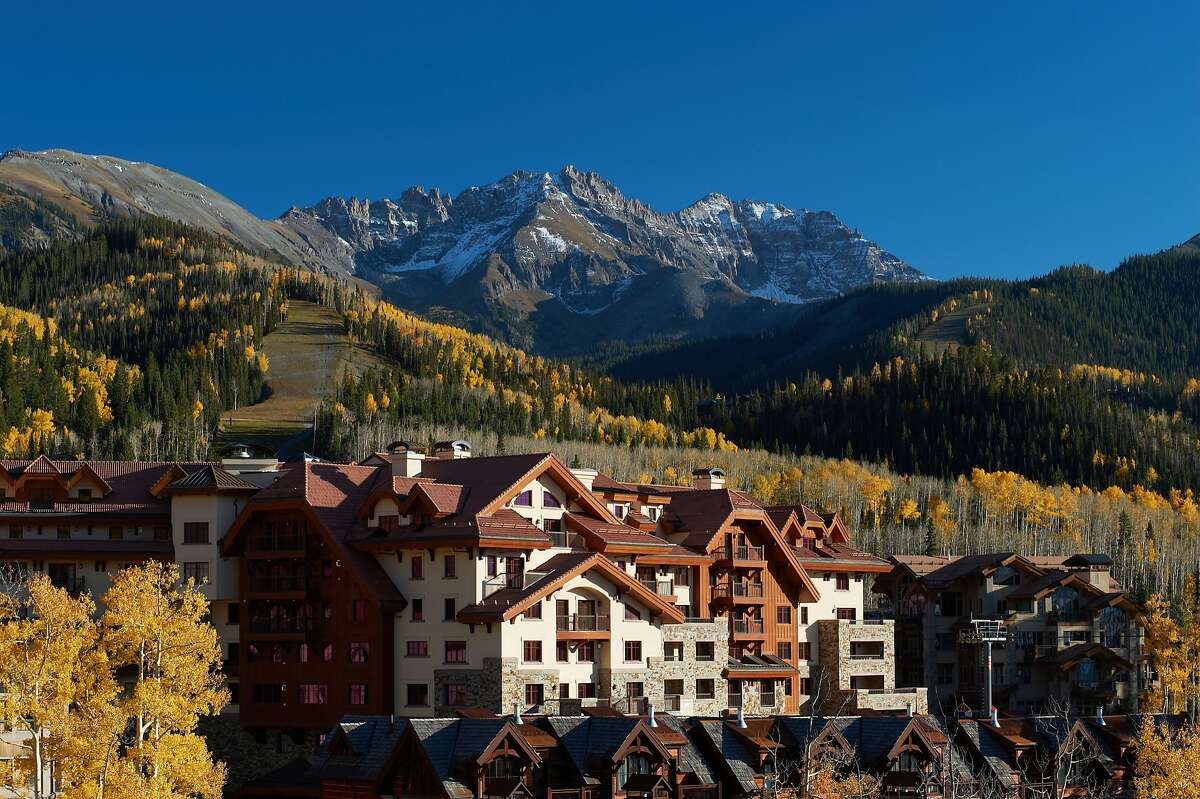 Even when snow has yet to cover the ski slopes, the views from the Madeline Hotel and Residences above Telluride, Colo., are impressive.