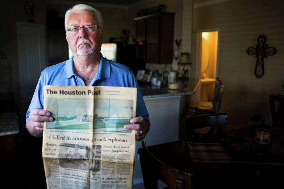 "Steve McCan, who survived the deadly tanker accident in 1976, wishes officials would update Houston's hazmat route and get chemicals off 610. ""If something like that was to happen today, how many more people would suffer?"" Photo: Michael Ciaglo, Staff / © 2016  Houston Chronicle"