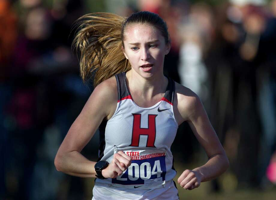 Tehren Landburg, of Huffman Hargrave, competes in the Class 4A girls race during the UIL state cross country championships at Old Settlers Park Saturday, Nov. 12, 2016, in Round Rock. Photo: Jason Fochtman, Houston Chronicle / Houston Chronicle