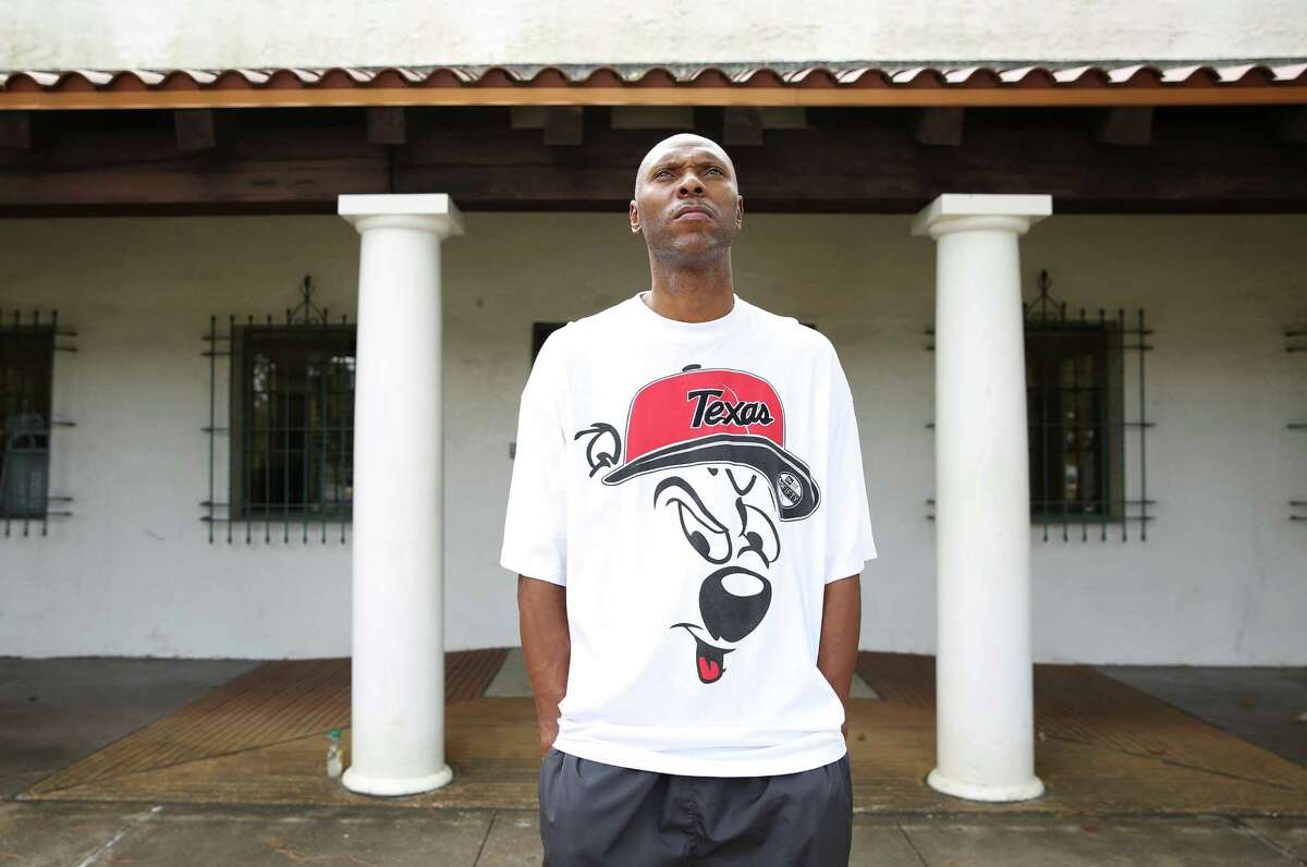 Local hip-hop artist Eric Kaiser, known as K-Rino, poses for a photo portrait at MacGregor Park Thursday, Nov. 3, 2016, in Houston. K-Rino would be releasing seven albums of new songs in the near future. (Yi-Chin Lee / Houston Chronicle )