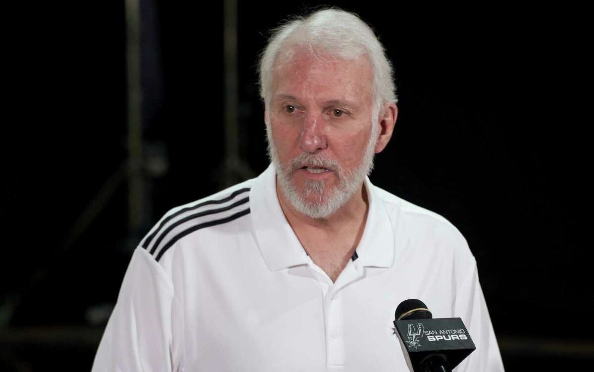 Spurs coach Gregg Popovich let it be known he was unhappy with the results of the presidential election.
