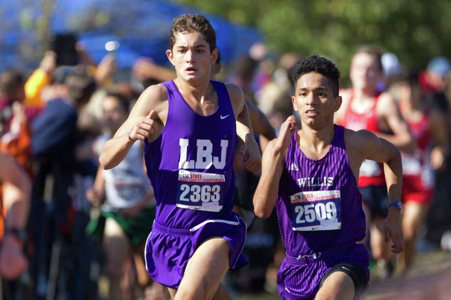 Jaime Vega, of Willis, competes in the Class 5A boys race during the UIL state cross country championships at Old Settlers Park Saturday, Nov. 12, 2016, in Round Rock. Photo: Jason Fochtman, Staff Photographer / Houston Chronicle