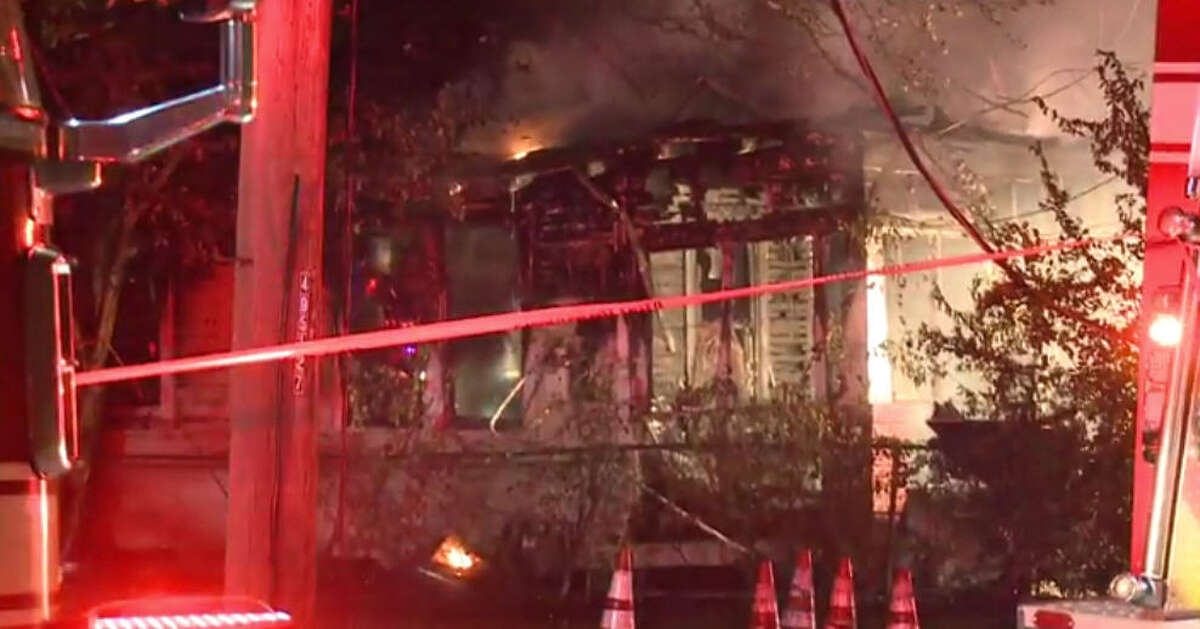 Two people made it to safety after an early morning housefire.