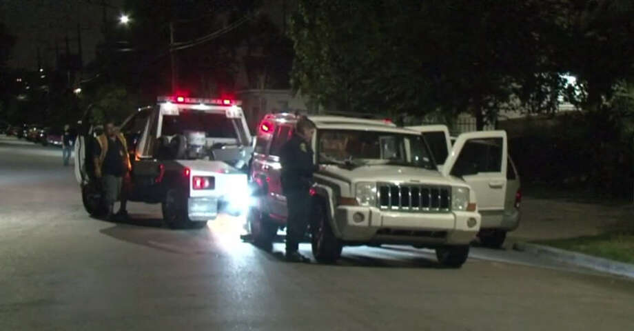 A man ended up in the hospital after he jumped on his ex-wife's vehicle during a fight. Photo: Metro Video