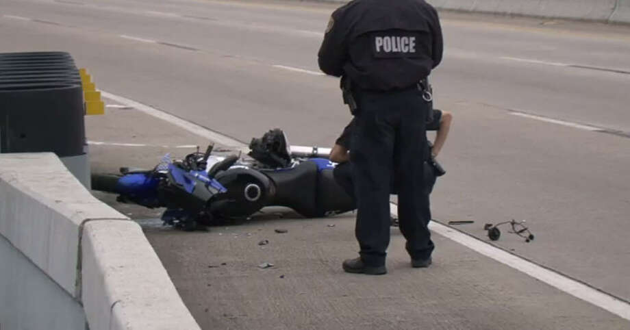 One person died in a motorcycle crash Sunday morning. Photo: Metro Video