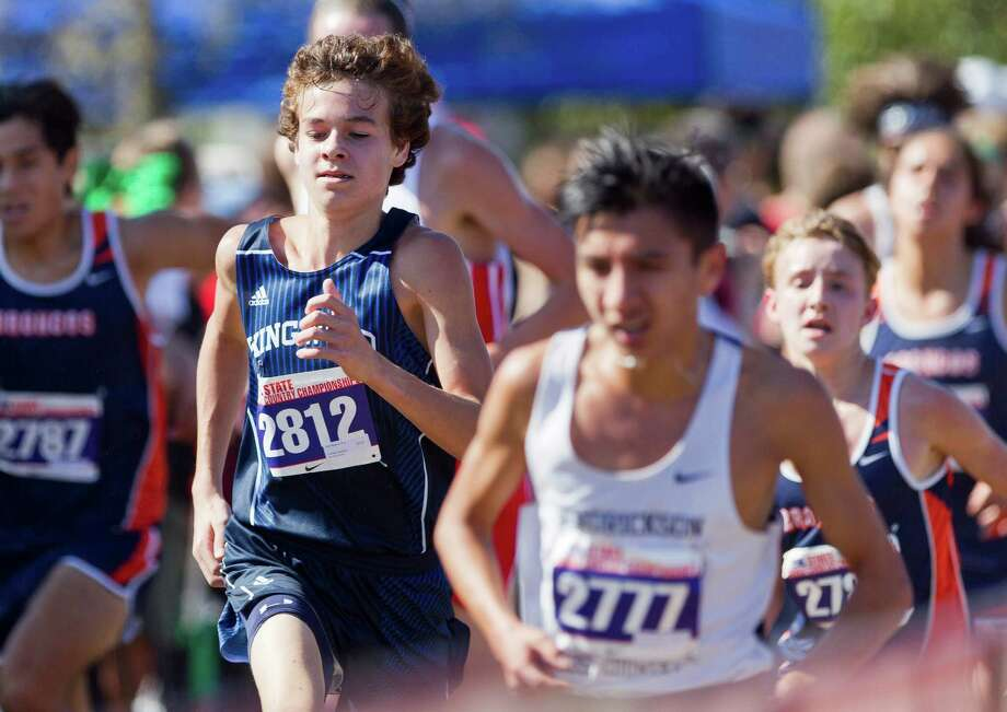 Nick Majerus, of Kingwood, competes in the Class 6A boys race during the UIL state cross country championships at Old Settlers Park Saturday, Nov. 12, 2016, in Round Rock. Photo: Jason Fochtman, Staff Photographer / Houston Chronicle
