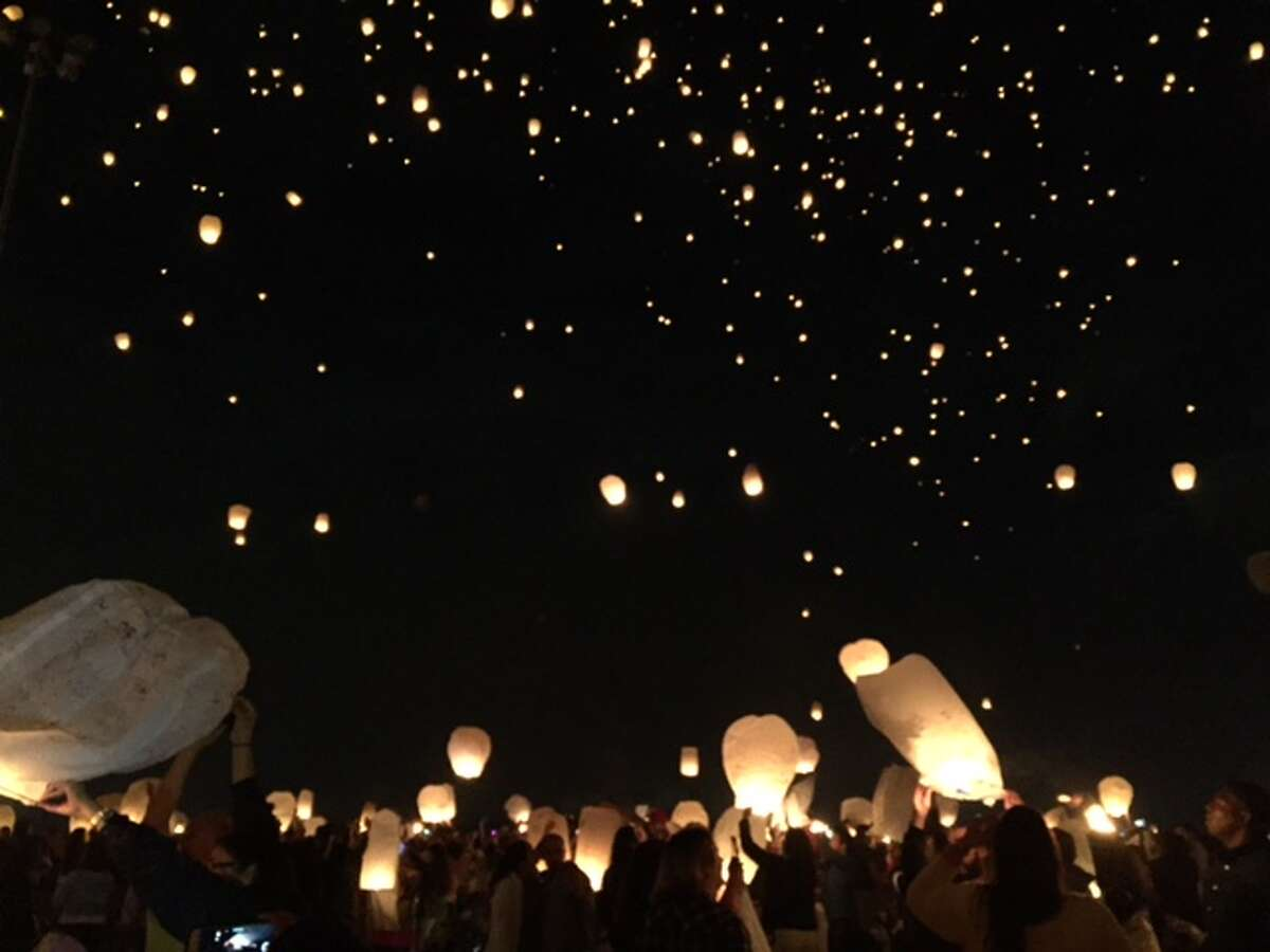 The Lights Festival came to Baytown's Royal Purple Raceway to promote charity and tranquility around the world.