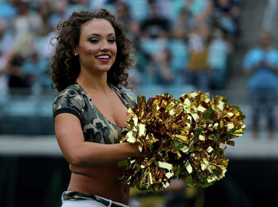 JACKSONVILLE, FL - NOVEMBER 13: A Jacksonville Jaguars cheerleader during the game against the Houston Texans at EverBank Field on November 13, 2016 in Jacksonville, Florida. Photo: Sam Greenwood, Getty Images / 2016 Getty Images