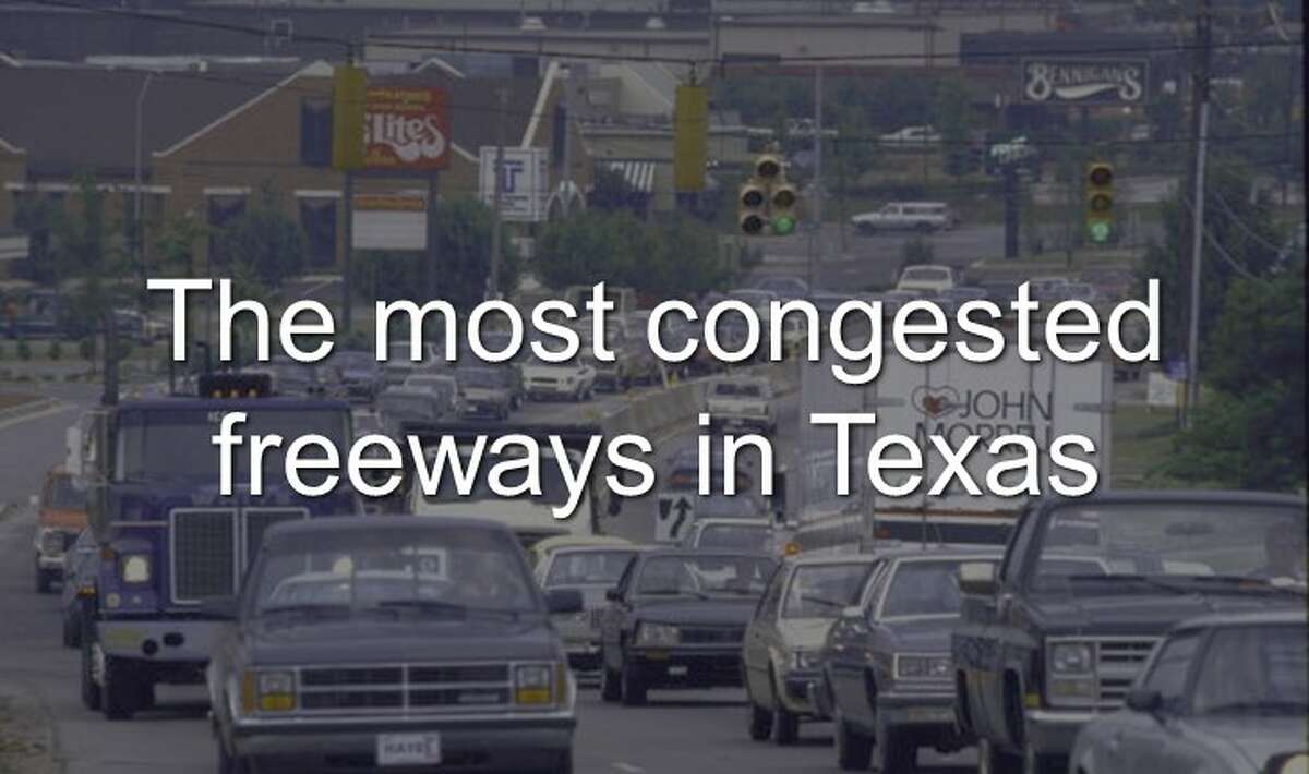 Continue clicking to see the most congested freeways in Texas of 2016.