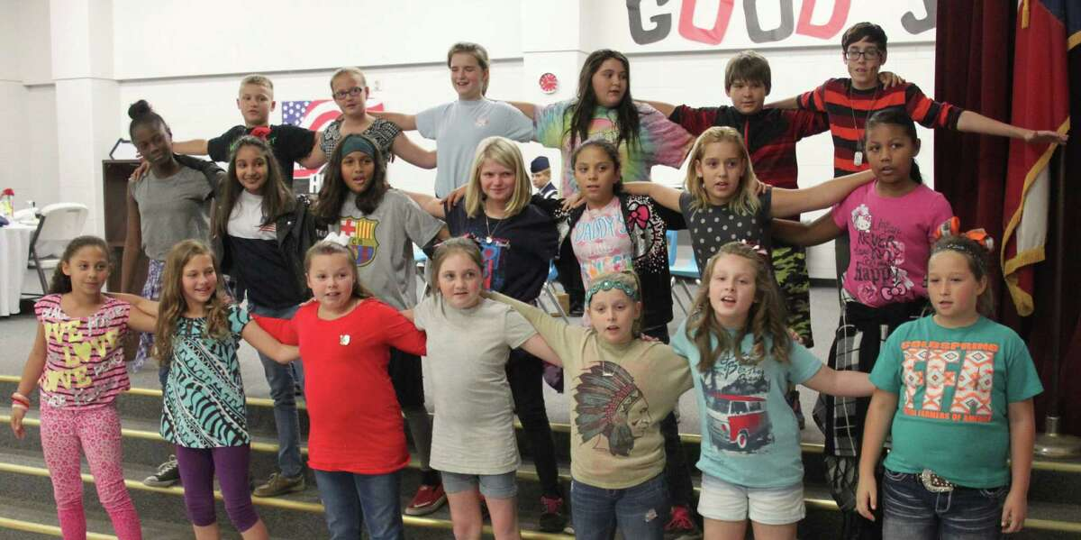Students of James Street Elementary sing