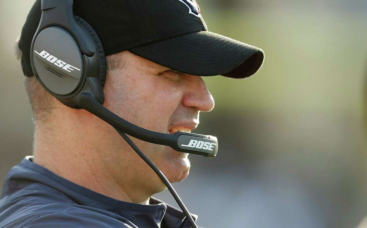 Houston Texans head coach Bill O'Brien watches play during the fourth quarter of an NFL football game against the Jacksonville Jaguars at Everbank Field on Sunday, Nov. 13, 2016, in Jacksonville.
