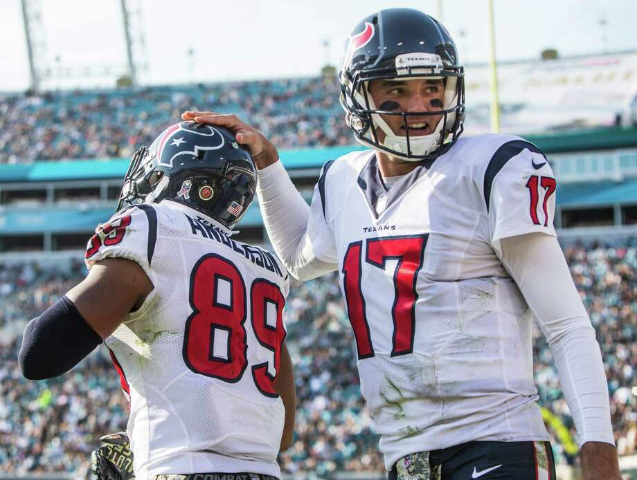 McCLAIN'S GRADES VS. JAGUARSQuarterbackBrock Osweiler (17) threw for a season-low 99 yards, but he also threw two touchdown passes. He didn't throw an interception. And when he needed yards for a first down, he took off running. He was off target on a few of his passes, but he did what was necessary to win.Grade: C Photo: Brett Coomer, Houston Chronicle / © 2016 Houston Chronicle