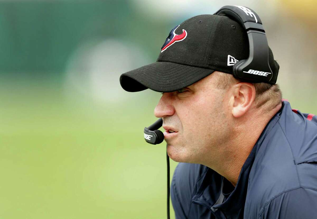 Houston Texans head coach Bill O'Brien stands ont he sidelines during the first quarter of an NFL football game against the Jacksonville Jaguars at Everbank Field on Sunday, Nov. 13, 2016, in Jacksonville.
