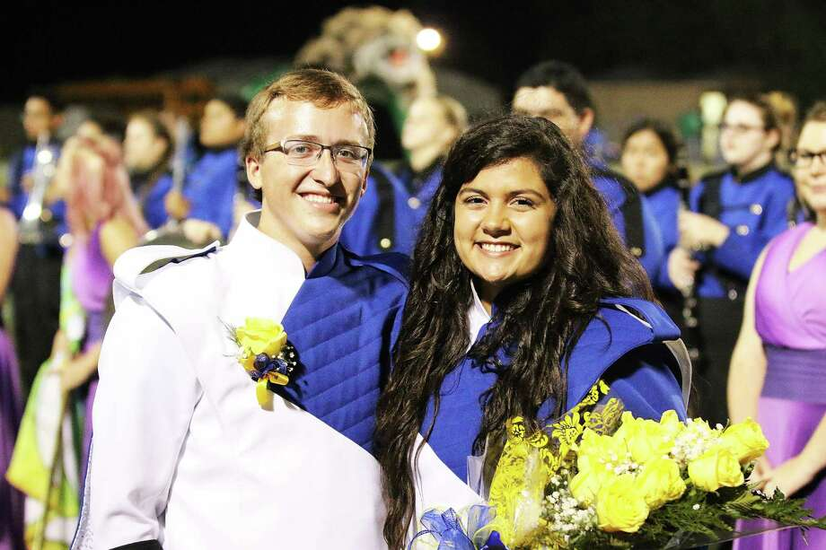 Seniors Zachary Barrett and Elizabeth Hoover were crowned Band Beau and Band Sweetheart at Hardin's final football game. Band seniors were recognized for their contribution to the band program the last six years. Photo: David Taylor