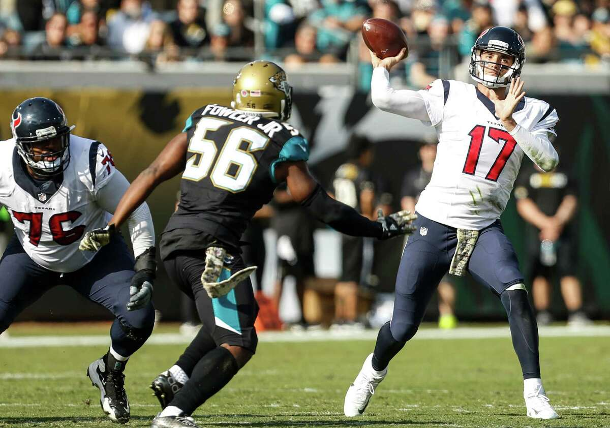 Brock Osweiler (17) did not throw an interception on Sunday and was sacked only once.