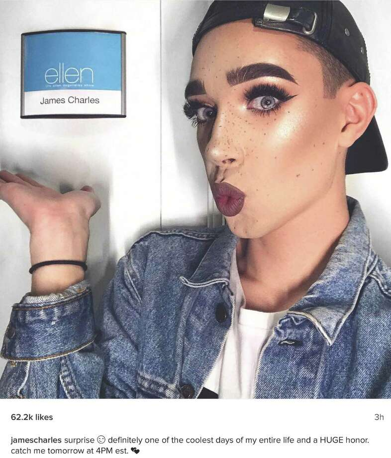 "James Charles announced his Nov. 14, 2016, ""Ellen"" appearance on Instagram. Photo: Picasa"