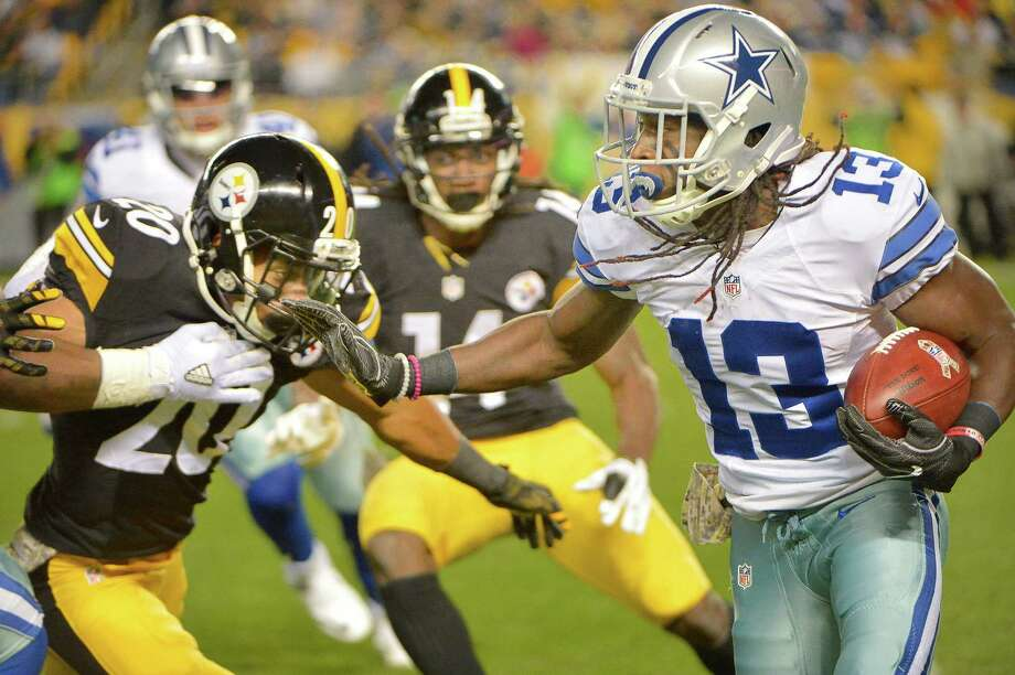Dallas Cowboys wide receiver Lucky Whitehead (13) returns a third quarter kickoff while Pittsburgh Steelers defensive back Al-Hajj Shabazz (20) closes in to make the stop on Sunday, Nov. 13, 2016 at Heinz Field in Pittsburgh, Pa. Photo: Max Faulkner, TNS / Fort Worth Star-Telegram