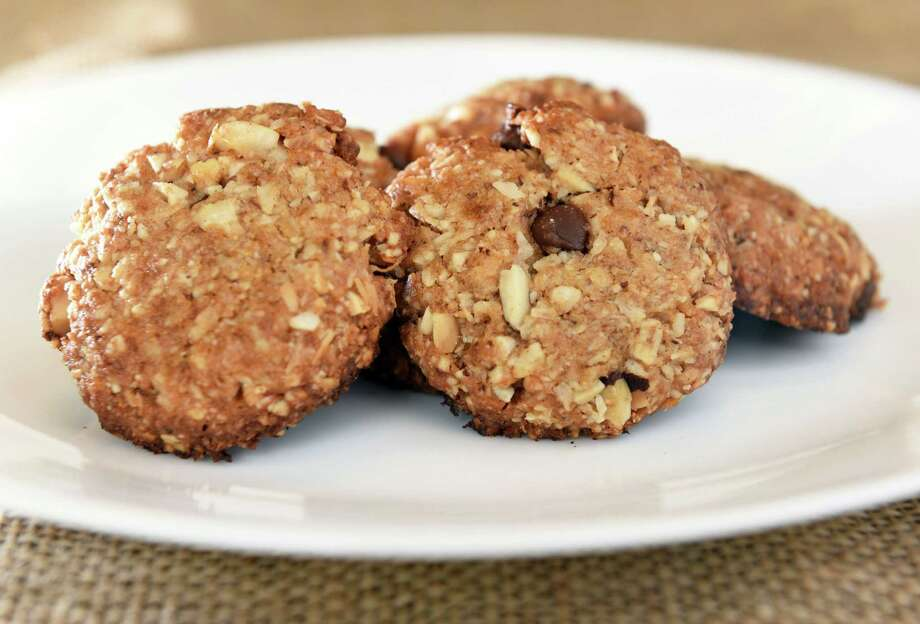 Amazon Cookies; Submitted by: Lauren Magin, Albany; Recipe origin: Self-developed; Description: Vegan and gluten-free, these cookies feature Brazil nuts, which have a high content of selenium, potassium and healthy fats. Peanut butter, unsweetened coconut and vegan chocolate chunks are also in the mix.  (John Carl D'Annibale / Times Union) Photo: John Carl D'Annibale