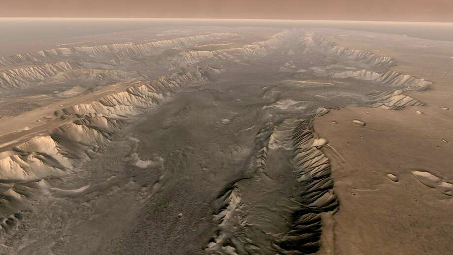 University of Texas geologists recently published a study that says a strange funnel on Mars could be a good place to look for life.Click through to see Hollywood's best imitation of Mars.