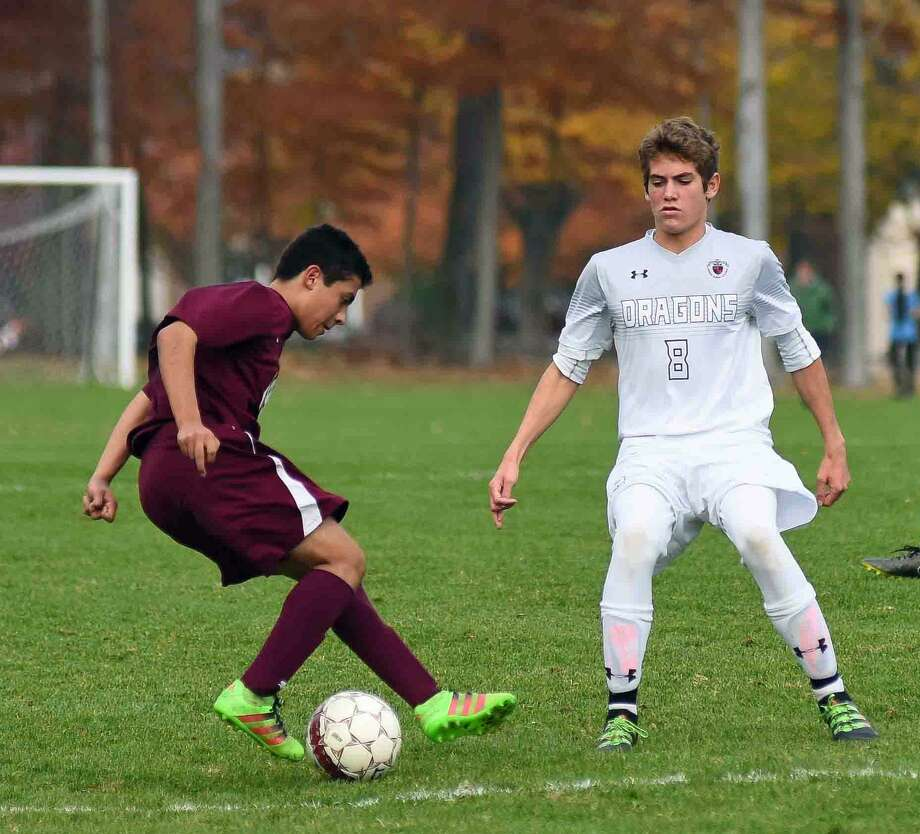 Action from GFA's 2-1 win over Hopkins in the FAA semifinals last week. Photo: Contributed / Photo / John Nash