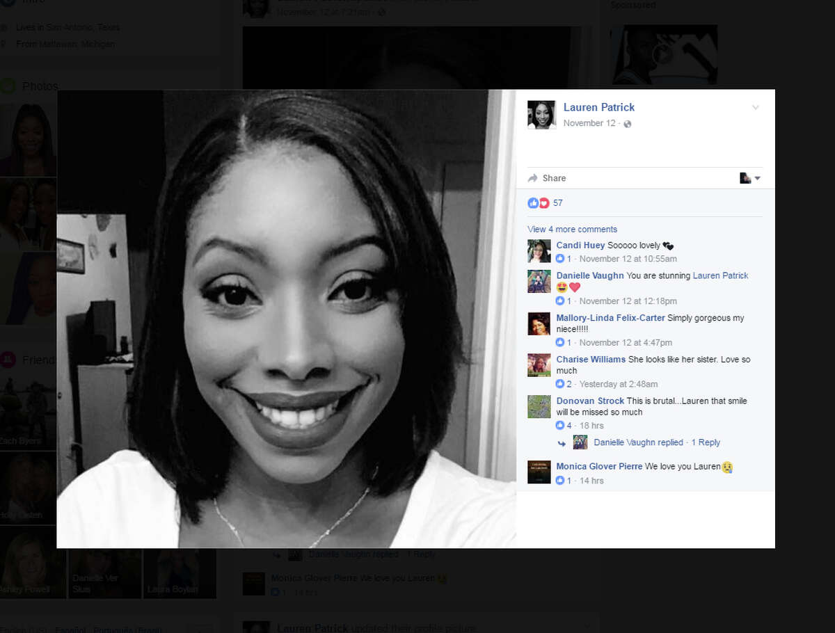 The 27-year-old woman killed Sunday morning, Nov. 13, 2016, in a head-on collision with a suspected drunken driver near the Pearl has been identified as Lauren E. Patrick. As her name was released, family and friends began sharing tributes on Facebook.