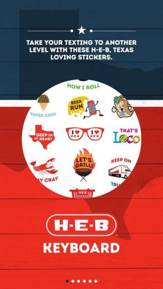 The new H-E-B Keyboard app adds H-E-B and Texas-themed stickers to your messaging. Photo: Courtesy H-E-B / Courtesy H-E-B