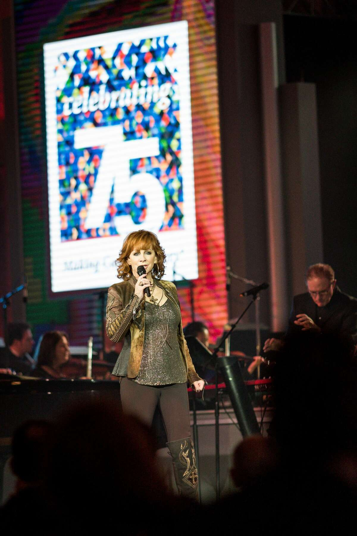 The 75th Anniversary Gala on Nov. 10, 2016, raised money for MD Anderson's cancer research programs. Reba McEntire performs at MD Anderson's 75th anniversary gala.