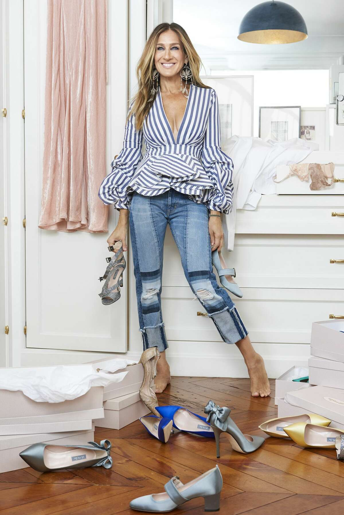 Sarah Jessica Parker and Net-A-Porter have teamed up for a 16-piece holiday shoe collection, which is available starting Thursday, Nov. 17.