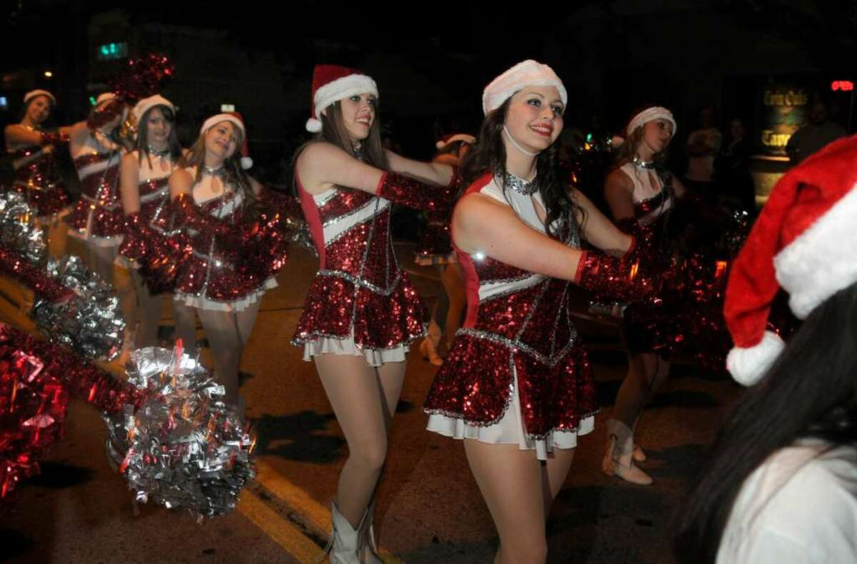 Schools from around the area participate in the city of Humble Christmas Parade of Lights every year.