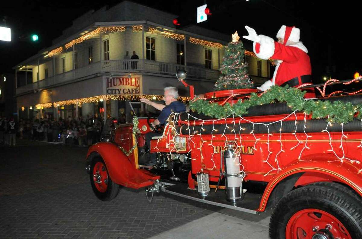 One of the big surprises for young guests is when Santa Claus makes his way down Main Street for the city of Humble Parade of Lights.