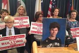 The parents of David Molak, a 16-year-old boy from Alamo Heights who committed suicide after alleged prolonged bullying, promoted a bill in his memory on Monday, Nov. 14, 2016, in an effort to give more protection to bullying victims.