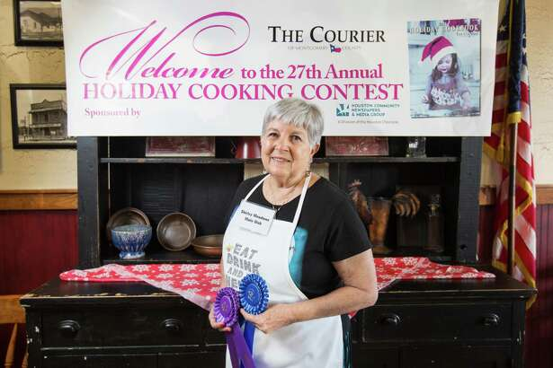 Main dish contestant Shirley Meadows won first in her category and the overall Grand Prize for her Easy Chicken Poblano Lasagna during the 27th Annual Holiday Cooking Contest on Oct. 29 at McKenzie's Barbeque.