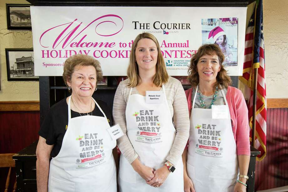 Appetizer contestants Gail Grigar, Melanie Creel and Wanda O'Brien pose for a photo Oct. 29 at McKenzie's Barbeque in Conroe. Photo: Michael Minasi, Staff / © 2016 Houston Chronicle