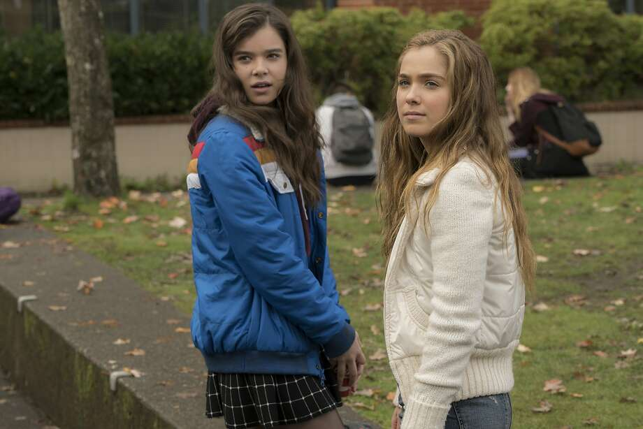"Hailee Steinfeld (left) and Haley Lu Richardson star in ""The Edge of Seventeen,"" a coming-of-age movie that brings something new and special to its genre. Photo: Murray Close, Associated Press"