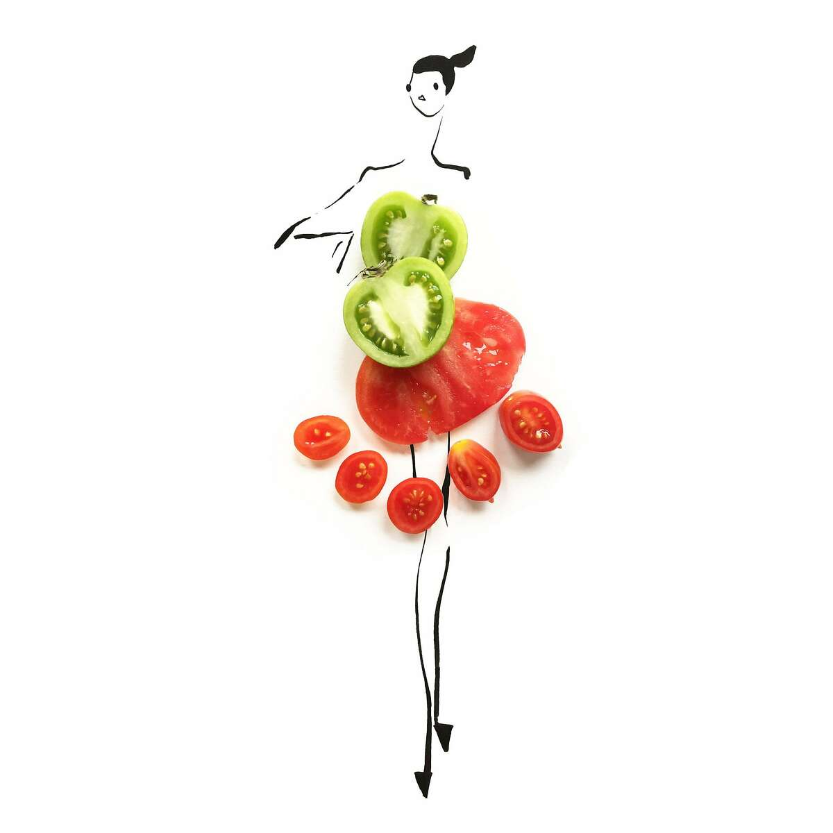 Fashion school graduate Gretchen Roehrs, who gave up offers in New York to move to San Francisco to be part of the Silicon Valley scene, began doodling with fruits and vegetables to unleash pent up creative urges, and posted them on Instagram, which led to a healthy following -- and some fashion illustration gigs with Marc Jacobs beauty, Bon Appetit magazine and other companies.