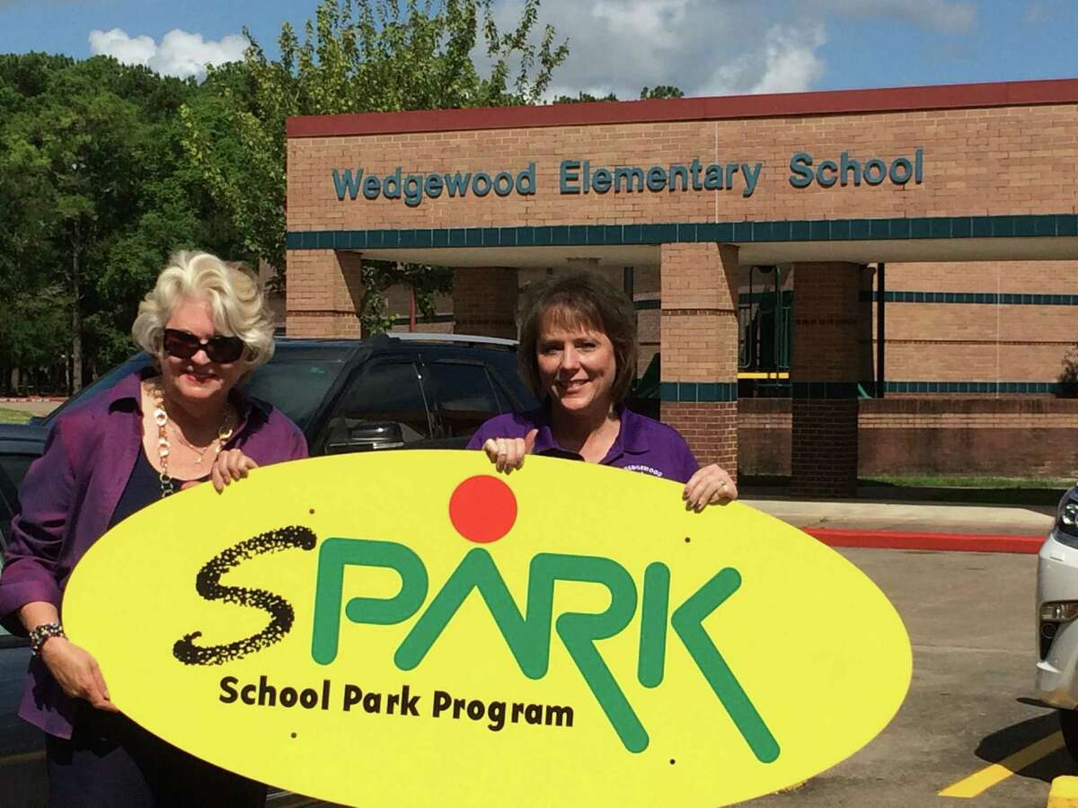 SPARK Executive Director Kathleen Ownby and Wedgewood Elementary School Principal Buffie Johnson say that a planned SPARK community/school part at Wedgewood is greatly needed. The Clear Creek ISD school is in an area described as a