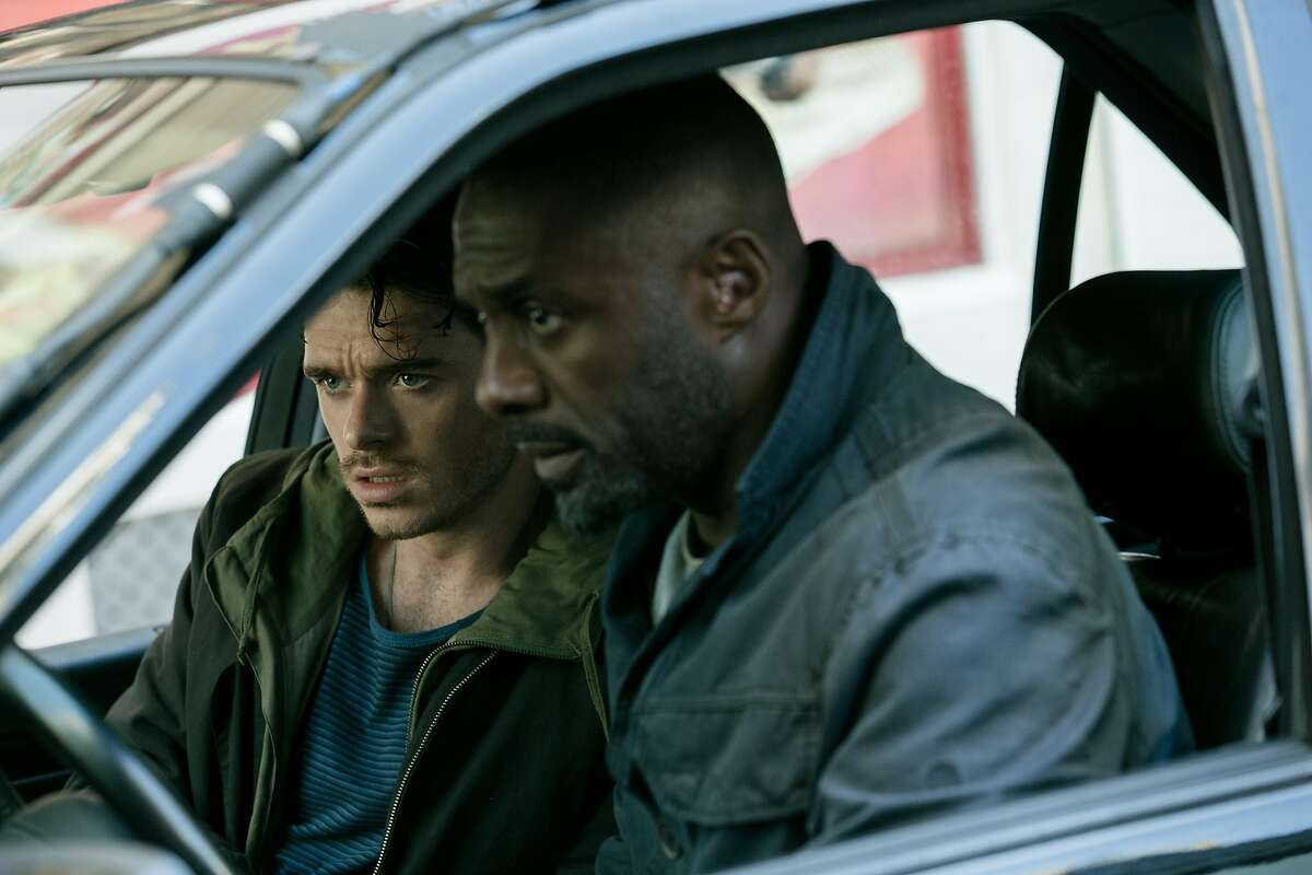 Pickpocket Michael Mason (Richard Madden, left) and Sean Briar (Idris Elba) become unlikely allies in the action thriller