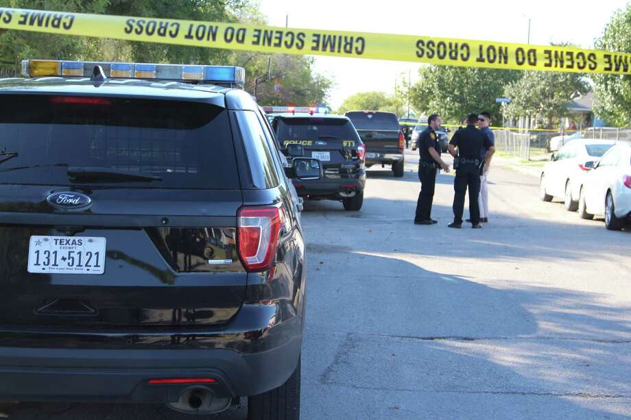 A man is in serious condition Nov. 14, 2016, after getting hit in a drive-by shooting in the 4900 block of Fortuna. Photo: Tyler White, San Antonio Express-News / San Antonio Express-News