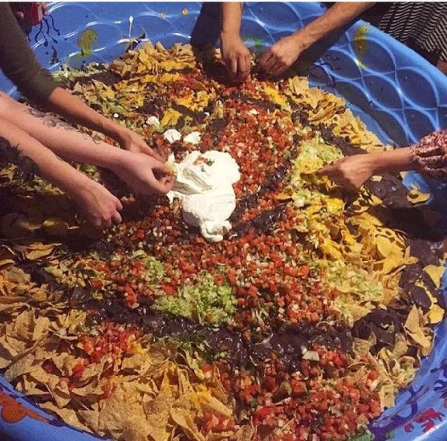 Austin man throws party with a kiddie pool-sized nacho platter - San ...