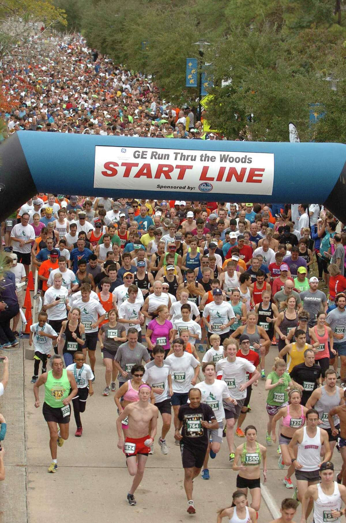 On Thanksgiving morning, thousands of people will make their way through The Woodlands' communities as participants of GE Run Thru The Woods. Directed by the YMCA, the event has been a source of fundraising for local charities for 27 years.