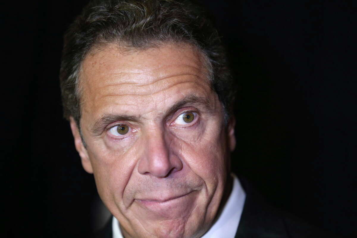 New York Governor Andrew Cuomo speaks to reporters in New York, Wednesday, Oct. 5, 2016. The election of Donald Trump is leading some observers to suggest Cuomo as a formidable candidate for president in 2020. (AP Photo/Seth Wenig)