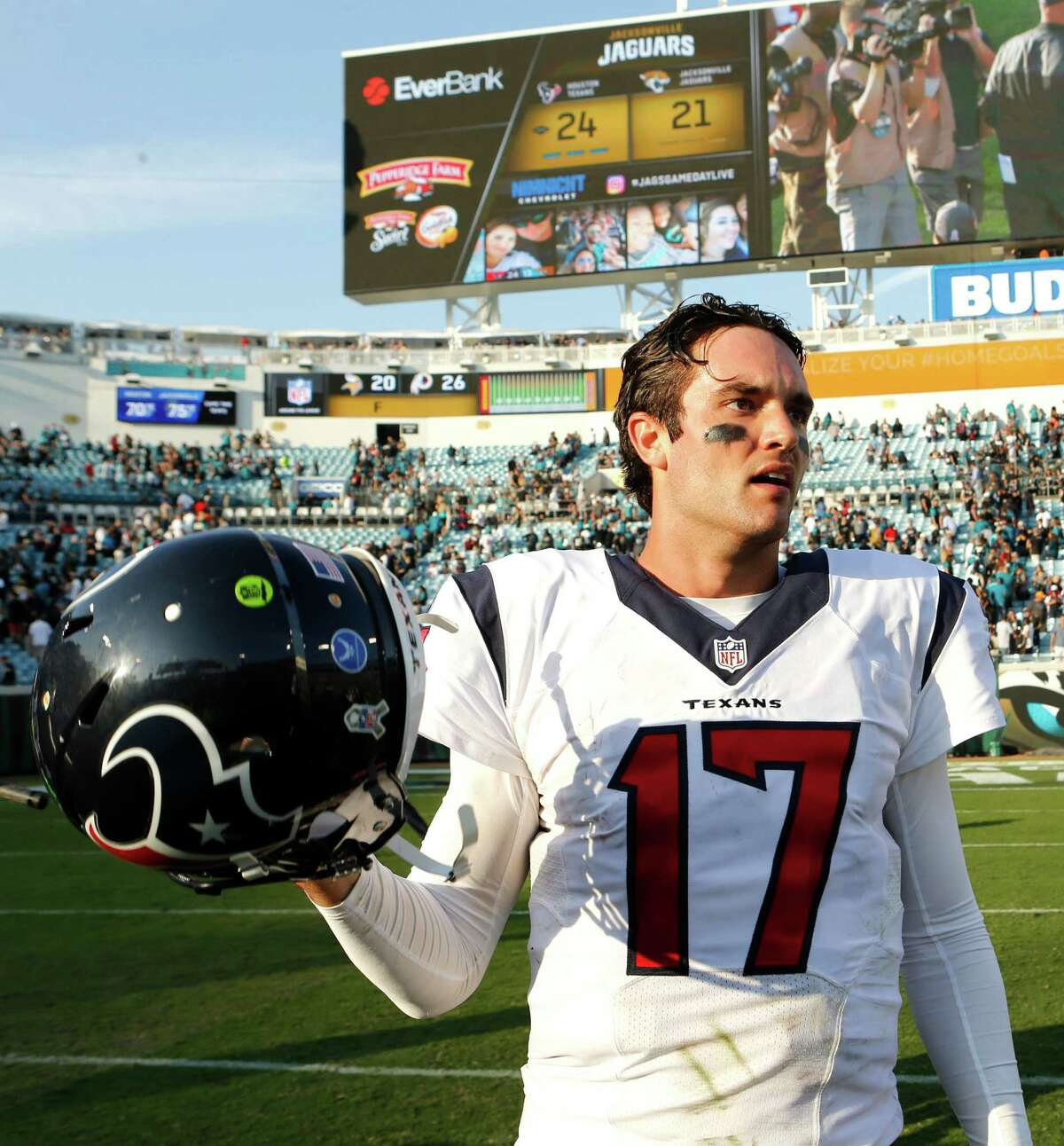 Texans QB Brock Osweiler, the starter against the Raiders, has thrown 15 touchdowns and 16 interceptions this season.