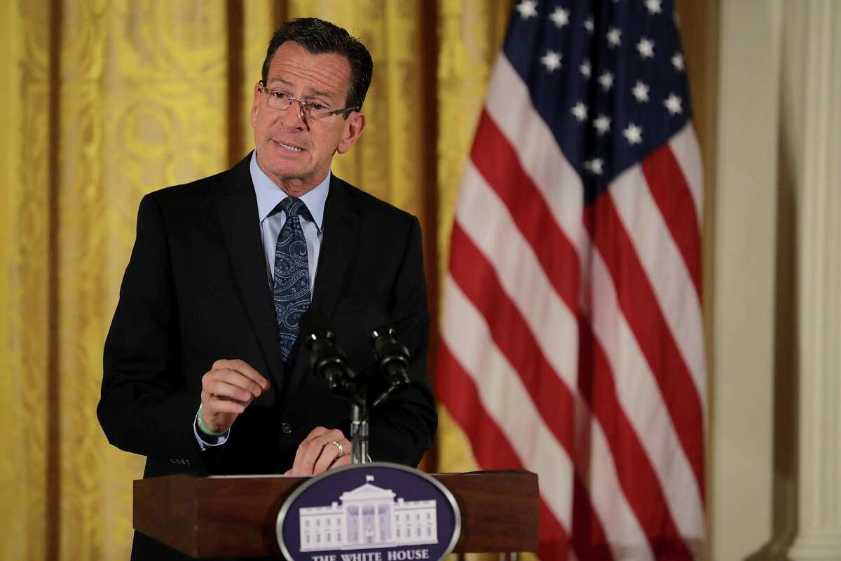 Connecticut Governor Dannel Malloy delivers remarks during the final Joining Forces event in the East Room of the White House November 14, 2016 in Washington, DC. First lady Michelle Obama hosted the event to celebrate the successes and share best practices so to continue the work of the Mayors Challenge to End Veteran Homelessness.